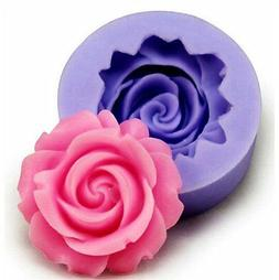 3D Rose Flower Silicone Fondant Cake Mould Decorating Chocol