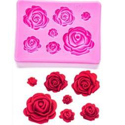 3D Roses Flower Silicone Mould Fondant Chocolate Cake Decora