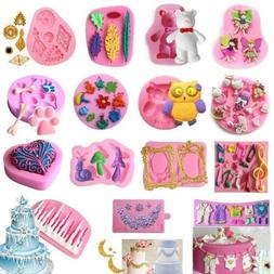 3D Silicone Fondant Mold Cake Decorating Chocolate Sugarcraf