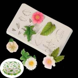 3D Silicone Leaves Fondant Mould Baking Sugarcraft Candy Cak