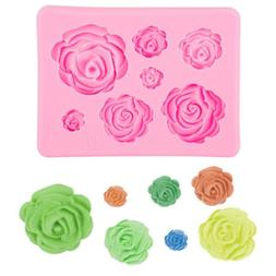 3D Silicone Mold Rose Shape Mould For Soap Candy Chocolate I