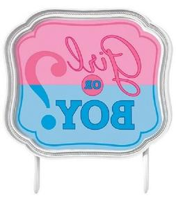 """4.5"""" Cake Topper Girl Or Boy Gender Reveal Party Supplies Ba"""