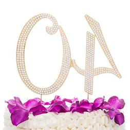 Ella Celebration 40 Cake Topper for 40th Birthday Party or A