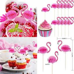 40 Pack Flamingo Cupcake Toppers Cocktail Picks Cake Decorat