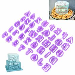 40pcs/Set Icing Cutter Mold Mould Alphabet Number Letter Fon