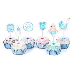48 Cupcake Toppers for Baby Shower It's a Boy Kids Party Cak
