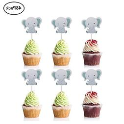 Finduat  Cute Baby Elephant Cupcake Toppers Birthday Party o