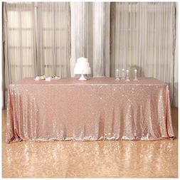 3e Home 60×120'' Rectangle Sequin TableCloth for Party Cake