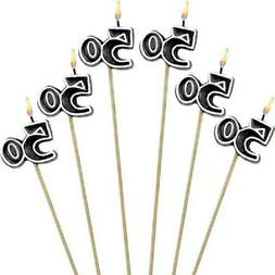 50th Birthday Candles Cake Toppers Fifti