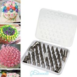 52 Pcs Icing Piping Tips Set Cake Frosting Decorating Nozzle