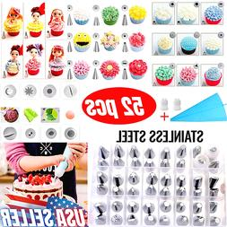 52pcs Pastry Flower Icing Piping Nozzle Cake Decoration Tips