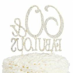 60 And Fabulous Cake Topper 60th Birthday