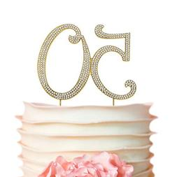 Crystal Creations 60 Rhinestone Cake Topper Silver Anniversa