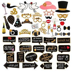 60Pcs Wedding Photo Booth Props Pose Sign Kit,Bachelorette C