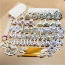 68 pcs Sugarcraft Cake Decorating Fondant Plunger Cutters To
