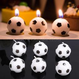 6Pcs/Set Soccer Ball Football Candles For Birthday <font><b>