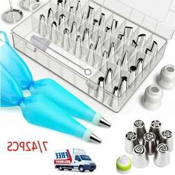 7 42pcs cake decorating supplies set flower