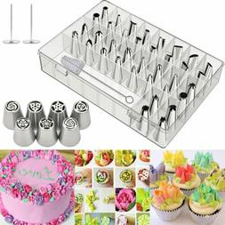 7/42Pcs Russian Icing Piping Nozzles Pastry Tips Cake Decor