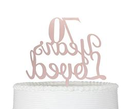 Qttier 70 Years Loved 70th Happy Birthday Cake Topper Annive