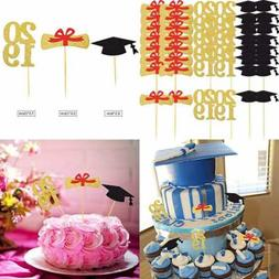 72 PC Graduation Cupcake Toppers 2019 Party Decorations Cake