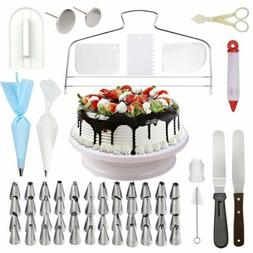 73pcs Cake Decorating Tool Kit Baking Fondant Supplies Turnt