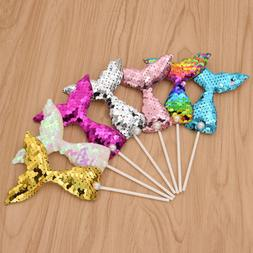 7pcs Colorful Mermaid Cake Topper Party Supplies Birthday De