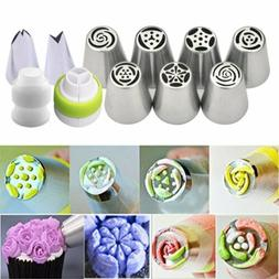 7Pcs Flower Russian Icing Piping Nozzles Pastry Tips Cake De