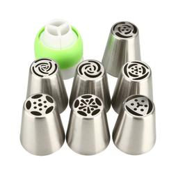 7Pcs Russian Tulip Flower Cake Icing Piping Nozzles Decorati