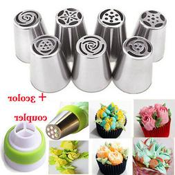 7Pcs Russian Tulip Flower Cake Icing Piping Nozzles Decor Ti