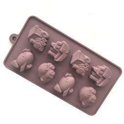 8 Holes <font><b>Transport</b></font> Tools Silicone Chocola