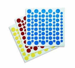 9  Primary Color Dots ~ Edible Fondant DecoSheets/DecoShapes