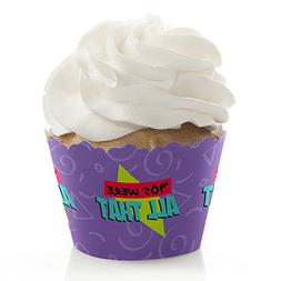 90's Throwback - 1990s Party Decorations - Party Cupcake Wra