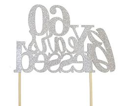 All About Details Silver 60-Years-Blessed Cake Topper