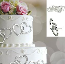 Amscan Elegant Electroplated Heart with Gems Wedding Cake Pa