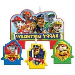 Amscan Paw Patrol Candle Set, 4 Pieces, Made from Wax, for B