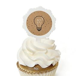 Big Dot of Happiness Bright Future - Cupcake Picks with Stic