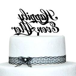 Buythrow Happy Ever After Cake Topper for Wedding Cake Decor