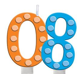 Creative Converting Bright and Bold 80th Birthday Molded Num