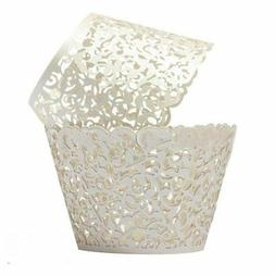 Cupcake Wrappers 100 Filigree Artistic Bake Cake Paper Cups
