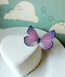 Edible Butterflies © -Large Light Purple and Black Set of 1