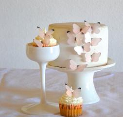 Edible Butterflies © - Small Pastel Pink Set of 24 - Cake a