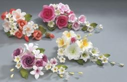 Flower Assortment Wedding in Gum Paste Cake Decoration