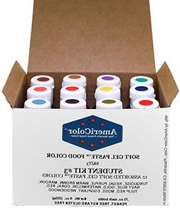 Food Coloring AmeriColor Student - Kit 3 12 .75 Ounce Bottle