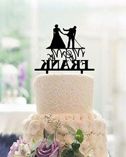Funny Wedding Cake Toppers Bride and Groom,Golf Wedding Cake