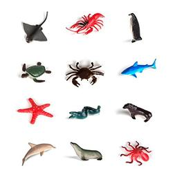 "Hands On Learning 1 Dozen 2"" Sea Life Animals Adorable Sea C"