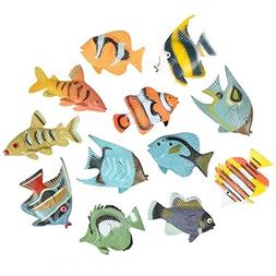 "Hands On Learning 12 1.5"" Tropical Fish Adorable Sea Creatur"