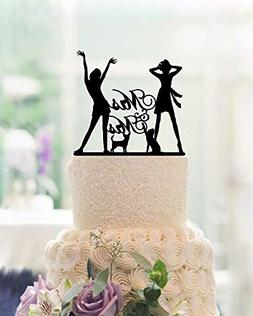 Lesbian Wedding Cake Toppers Mrs and Mrs 2 Brides Wedding Ca