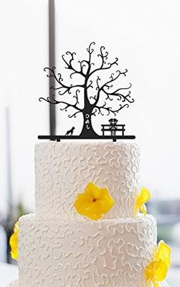 Lesbian Wedding Cake Toppers Tree Personalized Initials 2 Br