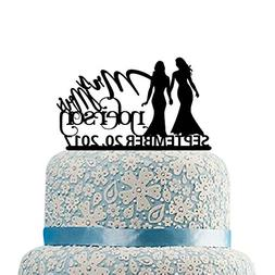 Lesbian Wedding Cake Toppers,Wedding Cake Toppers 2 Brides,P