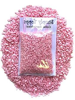 Mini Pink Glimmer Heart Edible Sugar Sprinkles 25g cake cupc